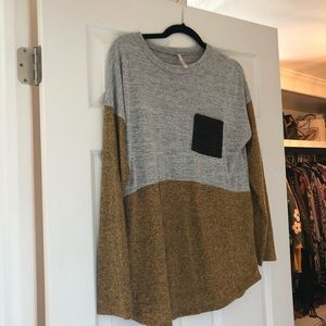 NWOT colorblock sweater
